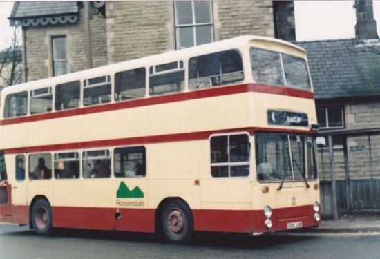 A Rossendale bus
