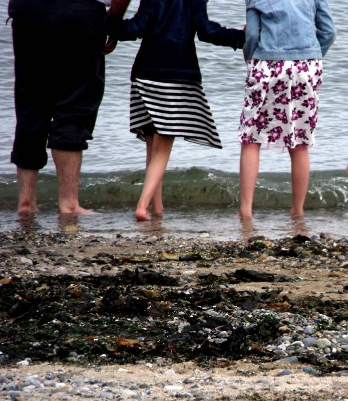 Dipping your toes in the briny