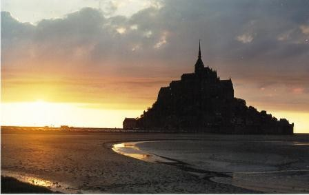 Mont St Michel at low tide