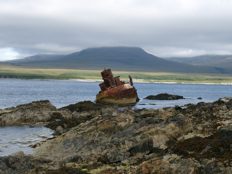 Wyre Majestic wreck in the sounds of Islay