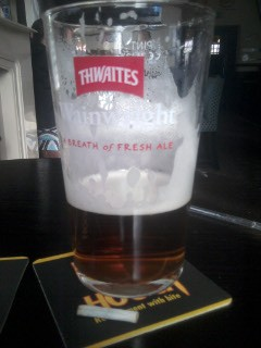 A full Pint and a tailor made fag, yes, I
