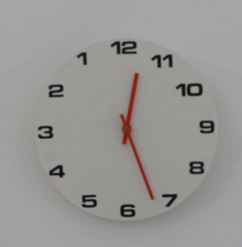 Anti-clockwise clock