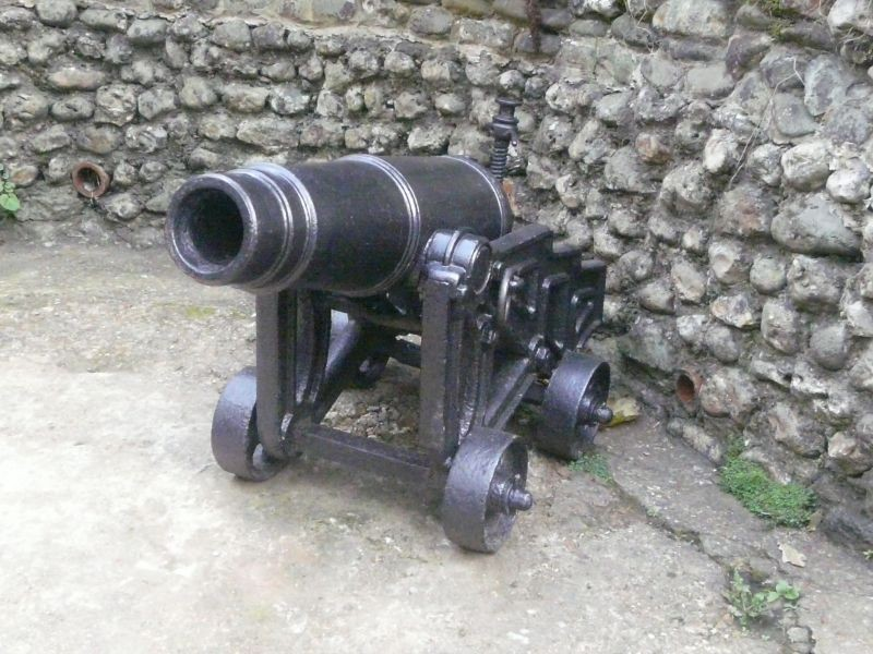 Cannon at Shanklin chine.