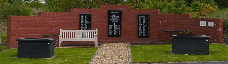 Moorfield Colliery Memorial.
