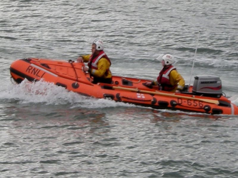 RNLI dinghy.