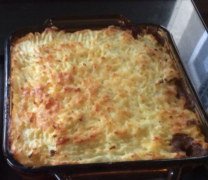 A home made Cottage pie.