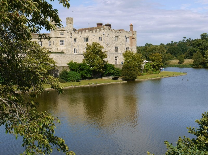 Looking over the moat to Leeds Castle