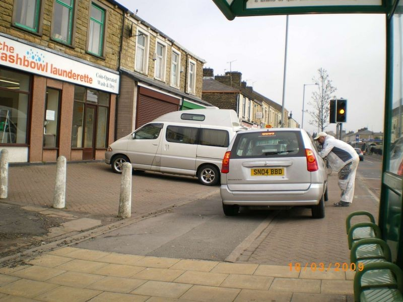 i hate parking on pavements