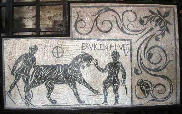 Mosaic from 138AD Colosseum, Rome