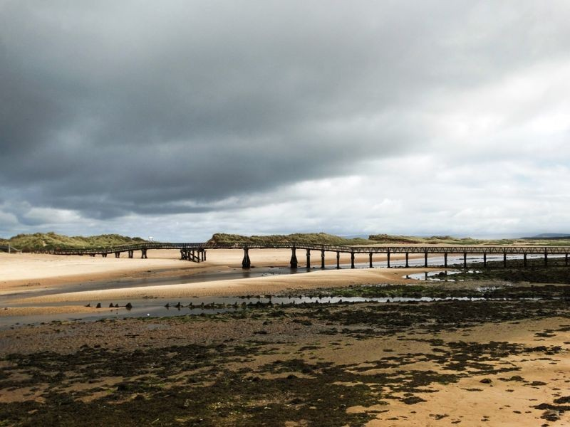 Beach walkway at Lossiemouth