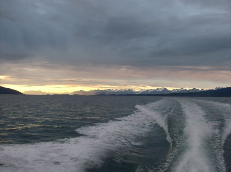 Alaska, off to find the halibut.