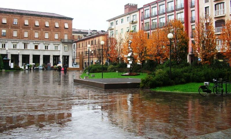 Rainy day in Cremona