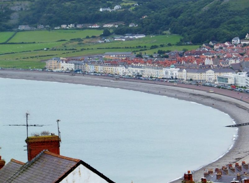 View from The window of the Great Orme Tram
