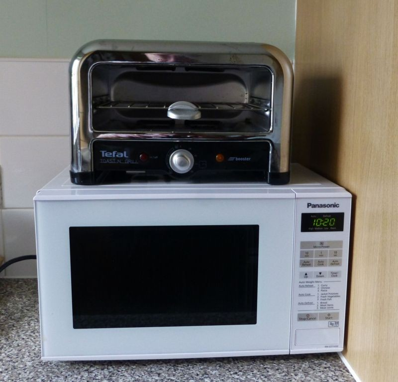 My microwave and toaster