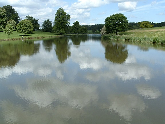 Lake At Ripley Castle