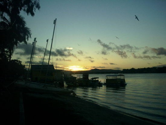 Sunset on the river at Noosa.