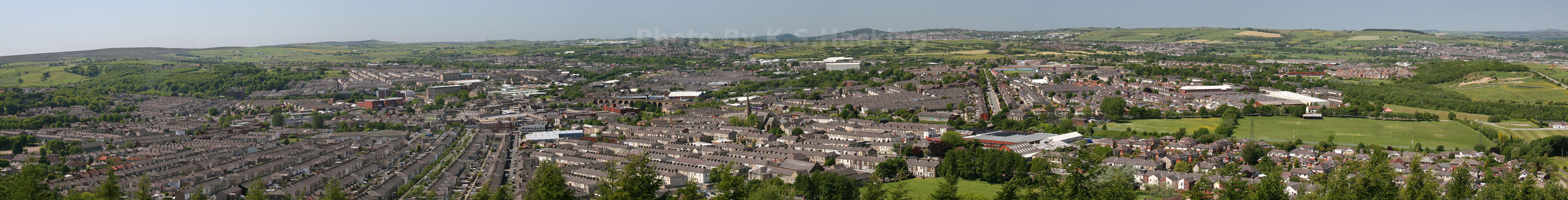 Panoramic View Of Accrington