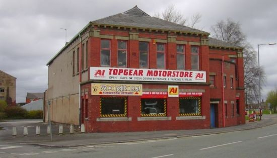 Top Gear Motor Store, Old Church Conservative Club, Market Street, Accringt