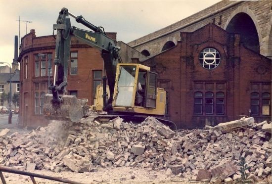 Demolition of Accrington' Drill Hall